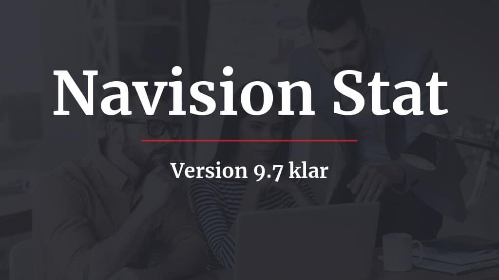 Navision Stat 9.7 er klar